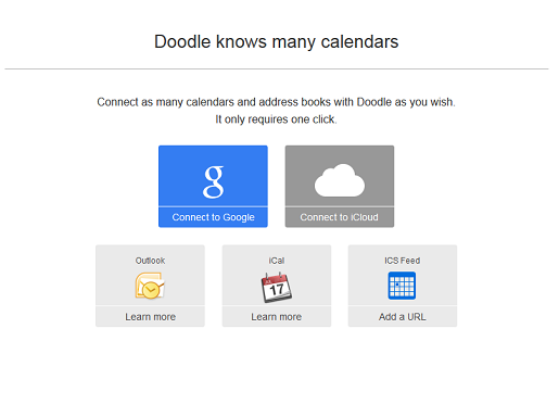 Connect your online calendars with Doodle