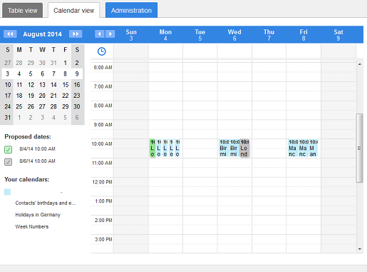 Free online scheduling with Doodle: step 4
