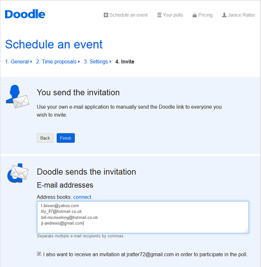 send out your event invitations
