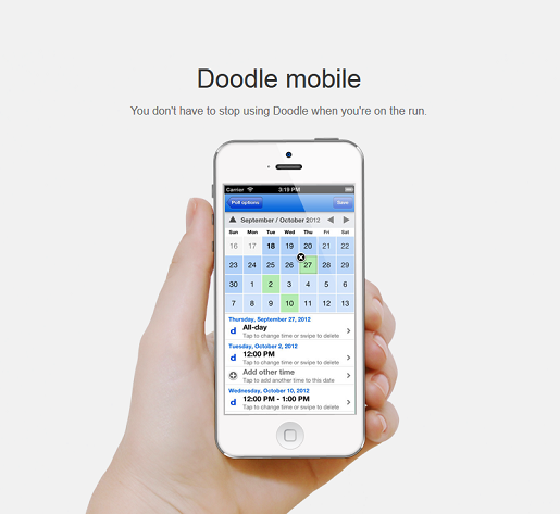 Free scheduling app from Doodle
