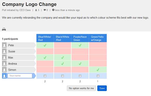 Doodle survey software step 4