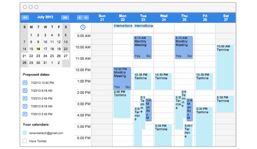 overview of calendar