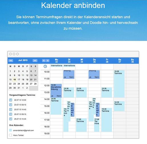 Doodle Kalender Integration