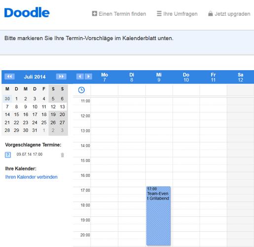 Neue Terminvorschläge im Kalender markieren