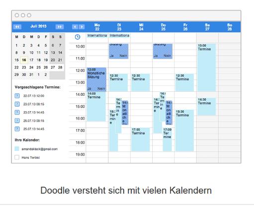 Kalender Übersichtsanzeige