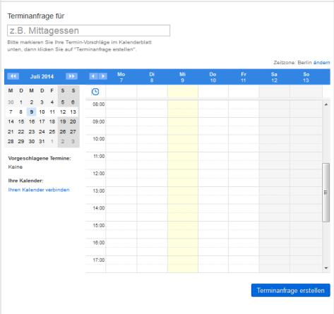 Kostenlosen Doodle-Kalender anlegen