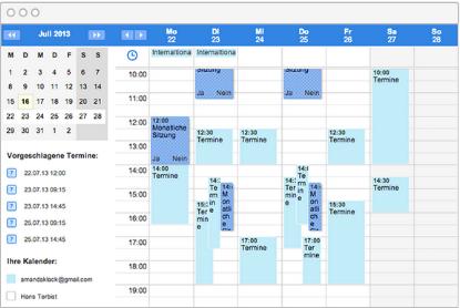 Einen gemischten Online-Kalender anlegen