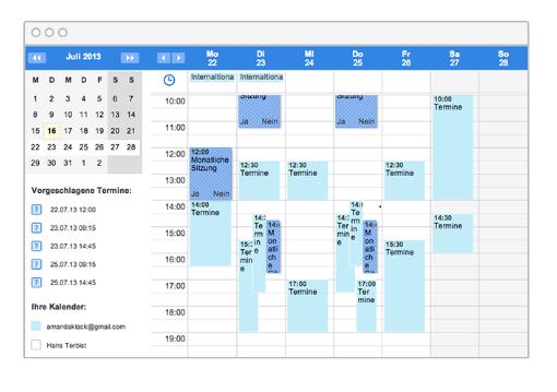 Kalender aller Familienmitglieder