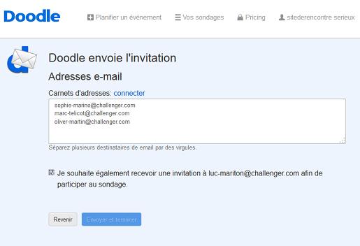 Envoyer l'invitation