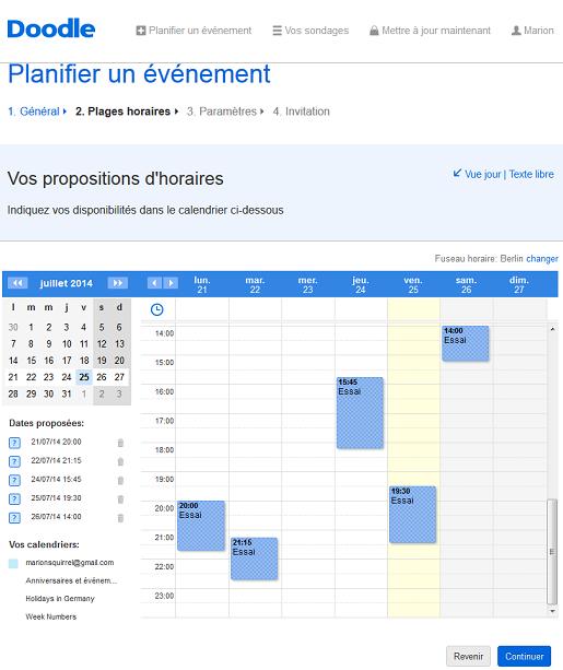 Planifier un événement avec des collègues