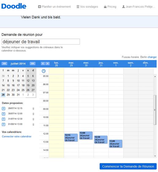partagez votre calendrier