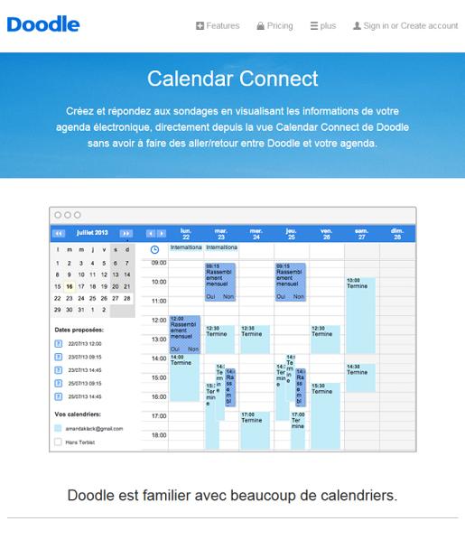 Connecter son calendrier à Doodle
