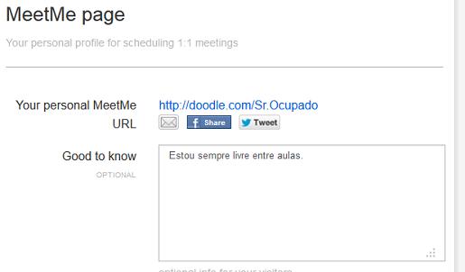 Uma pequena descrição da página MeetMe