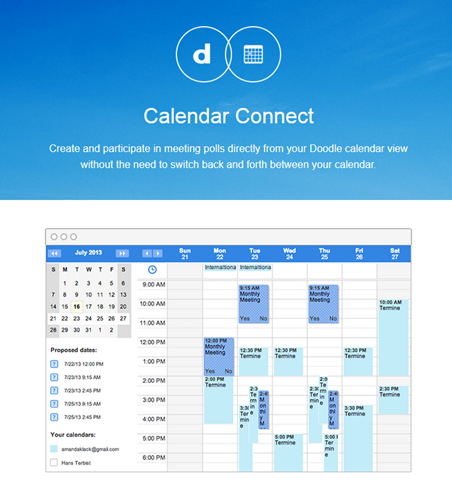 Unifique sus calendarios en un solo calendario de Doodle