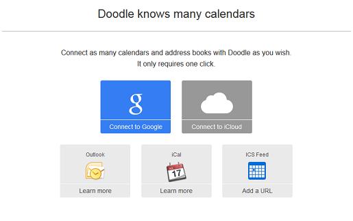 Escolha seu melhor calendário online para integrar com Doodle
