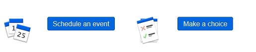 Clique no ícone para fazer uma escolha