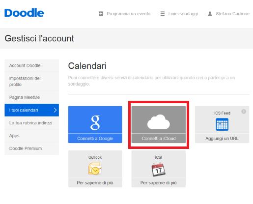 Come connettere iCloud con Doodle