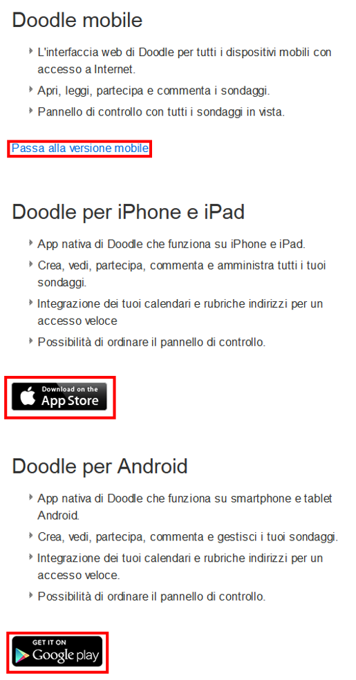 Come utilizzare Doodle su smartphone