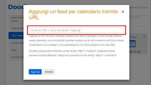 Aggiungi un feed del calendario di Outlook tramite URL