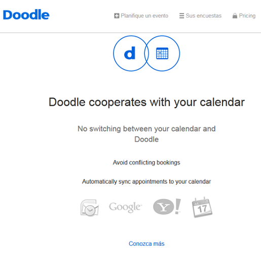 Proponer fecha para reunión en el calendario