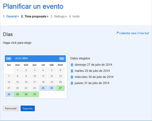 Cree una encuesta para planificar un evento