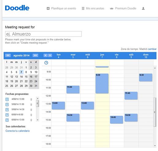 Proponer fecha para reunión