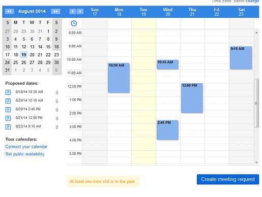 Gestione sus citas personales en su event calendar