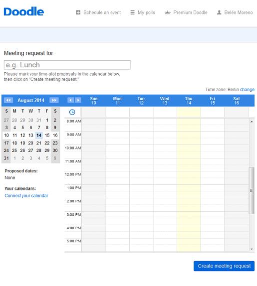 enviar planner con propuestas de fecha y hora