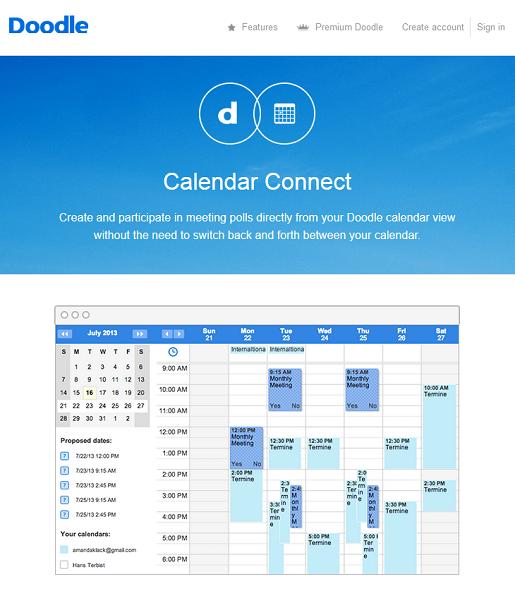 Unifique sus calendarios en un solo calendario de Doodle