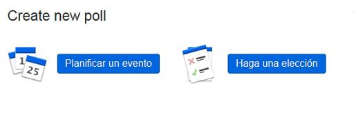 Envíe una petición a sus contactos para encontrar una fecha de reunión