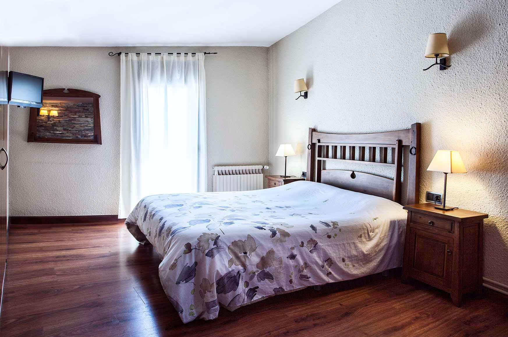 Habitació doble Hostal la Plaça Vall de Boí