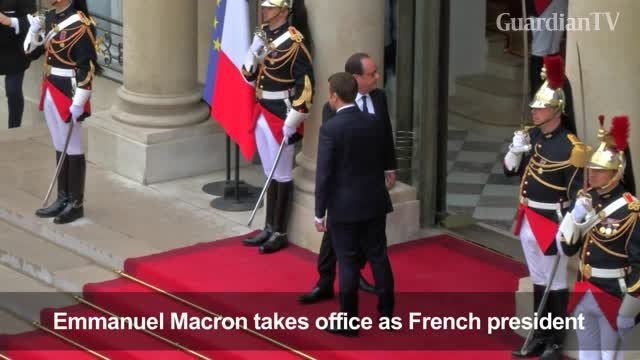 Macron takes power as French president