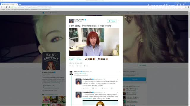 CNN cuts ties with Kathy Griffin over video 2:16 pm Wed