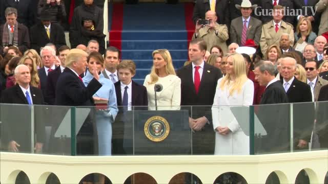Donald Trump Sworn In As The 45th American President