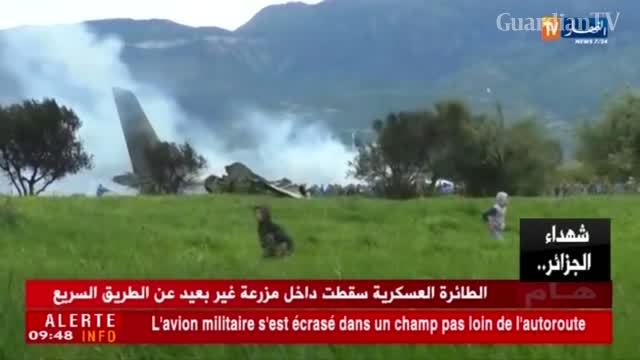 Military plane with 100 on board crashes in Algeria