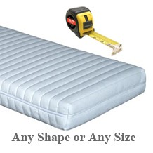 Bespoke mattress any shape, size or depth memory foam or HD foam. boats, motorhomes, caravans