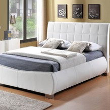 Quality faux leather affordable bedframes in single, double, kingsize and superking size