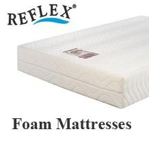 Reflex foam mattresses British Vitafoam premier foam, keeps its shape and bounce melanine free