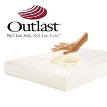 Choose a pressure relieving memory foam mattress with outlast cover for cooler sleep, visco elastic