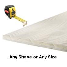 Custom size mattress toppers any shape or size in memory foam or HD foam. boats, motorhomes, caravan
