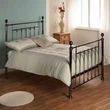 Modern and classical metal bedframes, iron, cast iron, tubular steel, chrome, top UK manufacturers