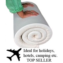 Memory foam travel beds, exceptional support using  combination of memory foam and high density foam