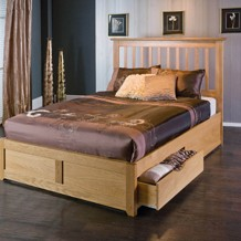 Choose from solid hardwood beds, MDF, etc, Painted wooden beds, beds with drawers for storage