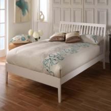 Limelight Ananke Wooden Bed - White