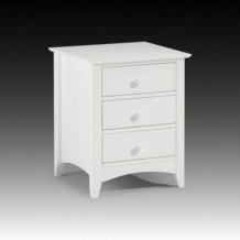 Julian Bowen Cameo 3 Drawer Bedside Table