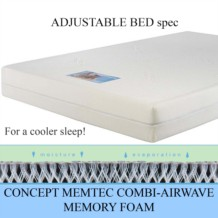 Concept Memtec Combi Airwave Memory Foam Mattress