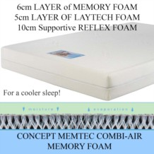 Concept Memtec Combi Air Memory Foam Mattress