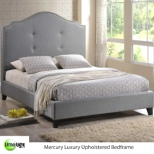 Limelight Mercury Deluxe Upholstered Bed With Tall Headboard