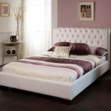 Limelight Aries Faux Leather Bed Frame - White