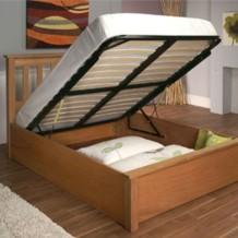 Limelight Terran American Oak Storage / Ottoman Wooden Bed